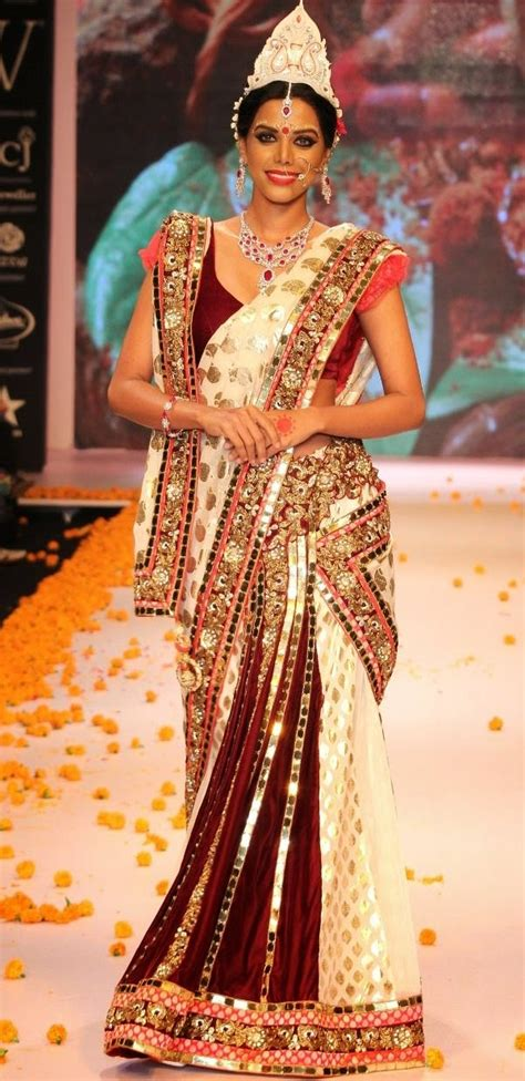 bengali saree draping 12 styles to drape dupatta on your wedding looksgud in