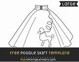 Poodle Skirt Template Templates Moreprintabletreats 50s Skirts Sponsored Links Poddle sketch template