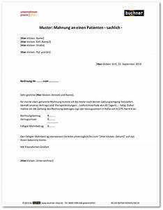 Mahnung Rechnung : muster mahnung an einen patienten sachlich praxisbedarf shop buchner ~ Themetempest.com Abrechnung