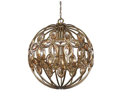 Uttermost Amber Gold Sphere Eight-light Pendant