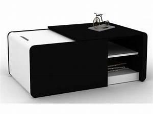 Table Basse Noir : table basse extensible cine 2 coloris noir blanc vente de table basse conforama ~ Teatrodelosmanantiales.com Idées de Décoration