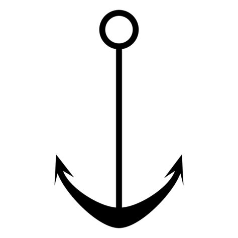 anchor silhouette circle hole svg transparent vector vexels