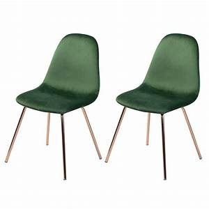Chaise Vert D Eau : chaise skuli en velours vert lot de 2 retrouvez les chaises skuli en velours vert rdv d co ~ Teatrodelosmanantiales.com Idées de Décoration