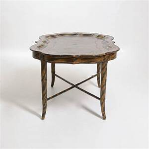 hand painted tiger print coffee table by maitland smith With painted coffee tables for sale