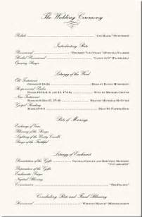 wedding ceremony order wording exles wedding ceremony programs wedding program exles wedding program wording