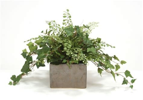 steins artificial trees mountain and maiden hair fern desk top plant in planter free shipping in usa 1001shops