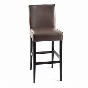 Tabouret De Bar 4 Pieds : tabouret de bar en vinyle et bois barcarpe 4 pieds tables chaises et tabourets ~ Teatrodelosmanantiales.com Idées de Décoration