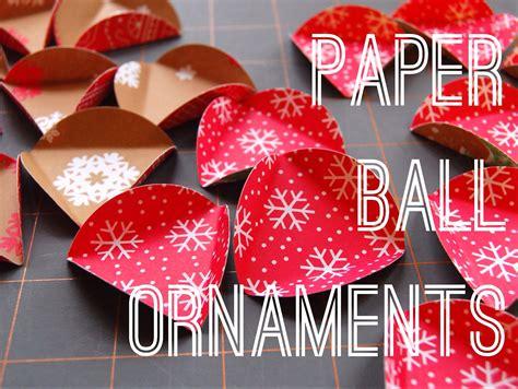 maker mama craft blog paper ball ornament tutorial