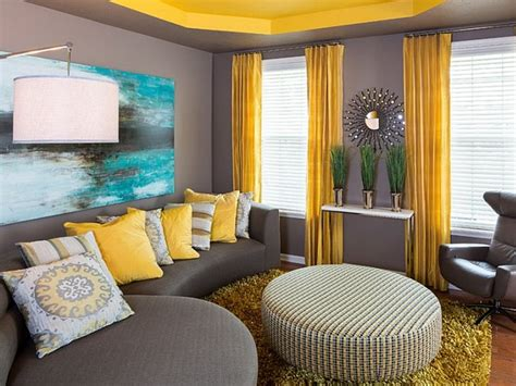 Grey And Yellow Combination For Living Room Colors