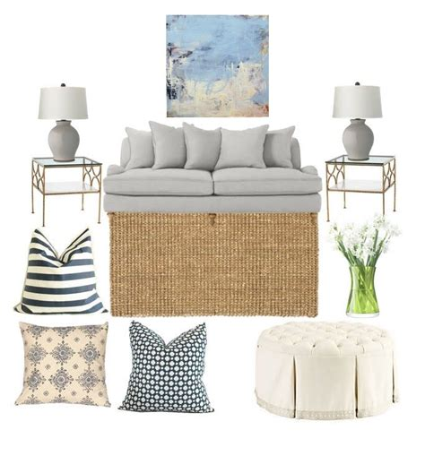love this neutral mood board with a pop of navy thinking