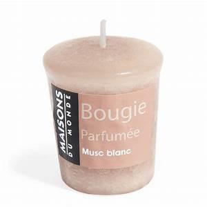 Bougie Parfumée Maison : bougie parfum e beige h 5 cm votive maisons du monde ~ Teatrodelosmanantiales.com Idées de Décoration