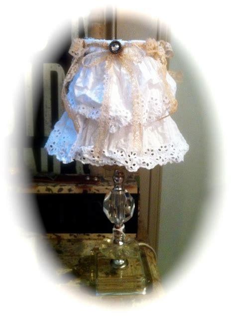 shabby chic l shades chandelier lshade l shade shabby chic white ruffle
