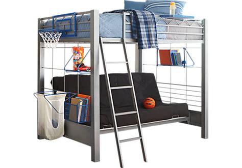 Build-a-bunk Gray 4 Pc Full/futon Loft Bed