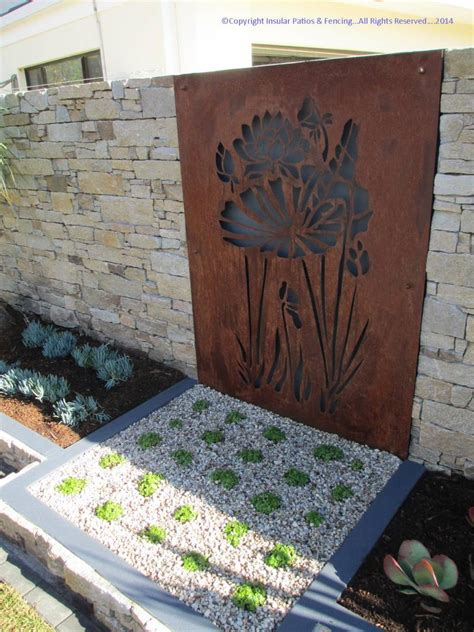 laser cut corten steel decorative panels gold coast