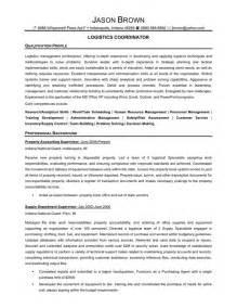resume format for logistics senior logistic management resume logistics coordinator