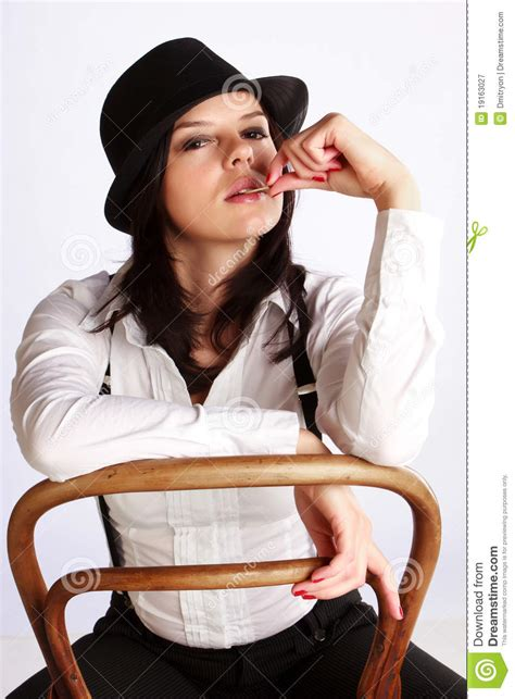 For Sitting by Gangster Sitting On Chair Stock Image Image 19163027