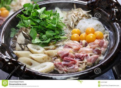 pot cuisine japanese chicken pot cuisine stock photo image 47817820