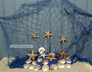 Fischernetz Mit Muscheln : fischernetz 2 x 4m blau mit 7 seesternen und 15 muscheln f r die maritime deko ~ Sanjose-hotels-ca.com Haus und Dekorationen