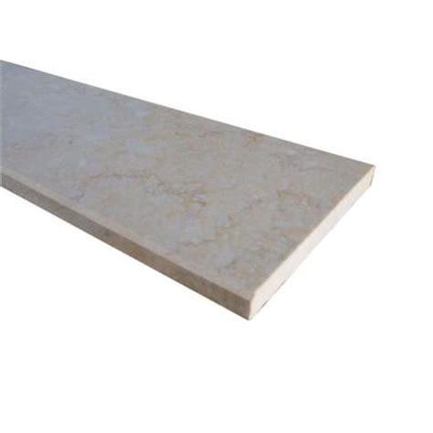home depot flooring threshold ms international beige single beveled threshold 6 in x 73 in polished engineered marble floor
