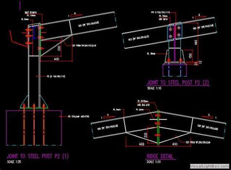 penting  detail tangga baja wf dwg tangga minimalis