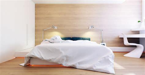 bureau chene clair chambre contemporaine avec un mur recouvert de bois clair chêne blanchi