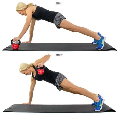 kettlebell renegade row exercise upper muscles burn exercises total body biceps focuses abs same
