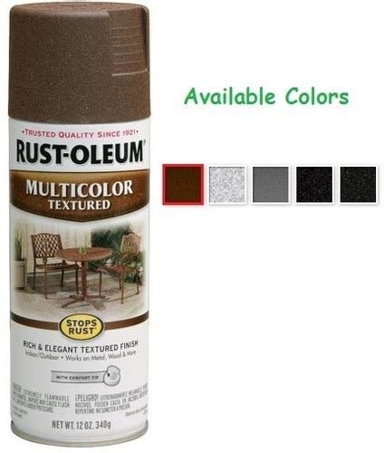 rust colored spray paint rust oleum textured spray paint colors home painting