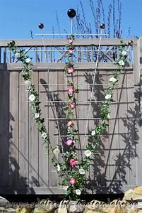 Rankhilfe Rosen Freistehend : rankgitter sarah aus edelstahl als sichtschutz in ihrem garten ~ Orissabook.com Haus und Dekorationen