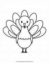 Thanksgiving Turkey Simple Coloring Pdf Pages Primarygames Printable Coloringpages Holidays sketch template