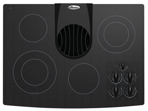 electric cooktop with vent whirlpool 30 quot electric ceramic glass cooktop with