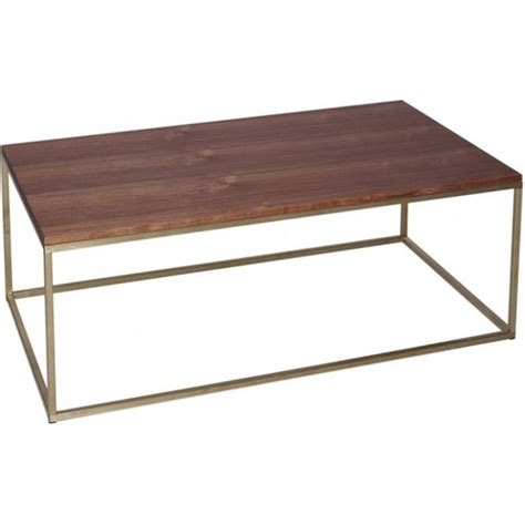gold rectangle coffee table buy walnut and gold rectangular coffee table from fusion