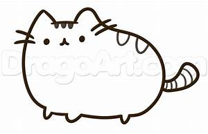 Pusheen The Cat With Unicorn Coloring Pages