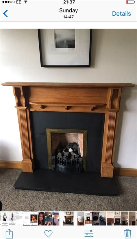 fireplace painted  chalk paint