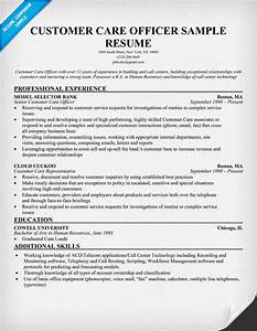 sample resume for customer service officer in bank resume With customer care resume