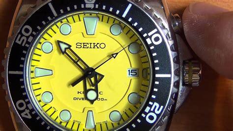 wrist  review part  seiko kinetic scuba divers