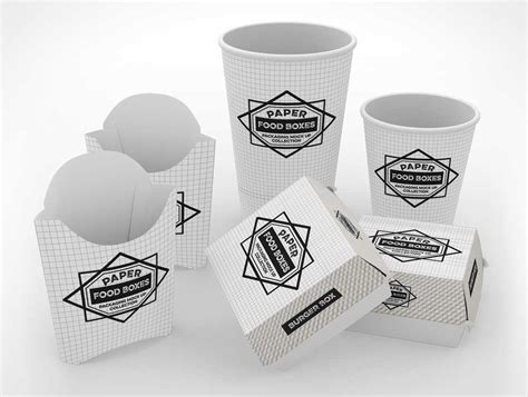 Download free mockups in psd. Free Fast Food Branding and Packaging PSD Mockup - PSD Mockups
