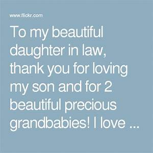 to my beautiful daughter in law thank you for loving my With letter to daughter in law