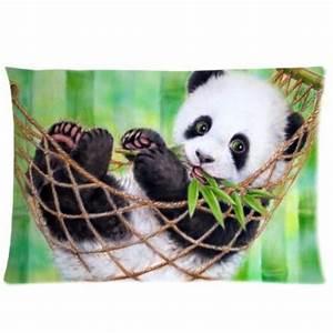 Cute Baby Panda Eat Bamboo Funny Family Gift 50x75cm ...