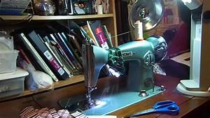 Sewcraft Singer 15 Clone Sewing Machine In Cabinet Wobbly