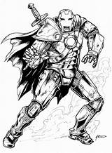 Medieval Iron Man Coloring Pages Archer Drawing Knights Comics Fan Arms sketch template