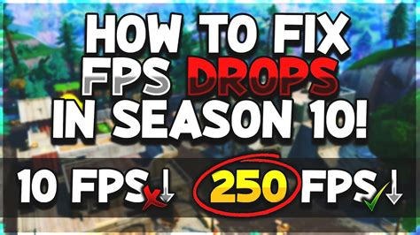 fix fortnite fps dropsstutters  season