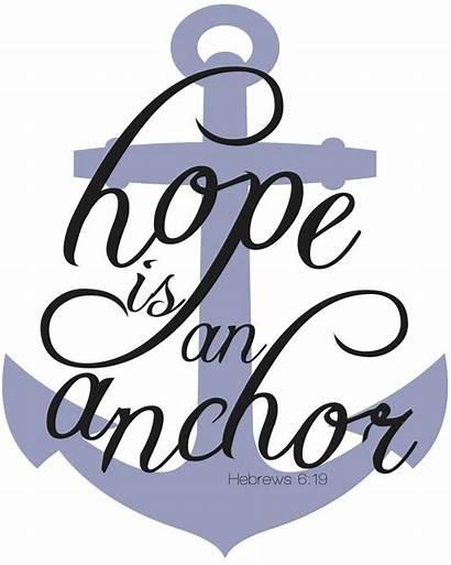 Hope Faith Anchor Clipart Clip Cliparts Anchors