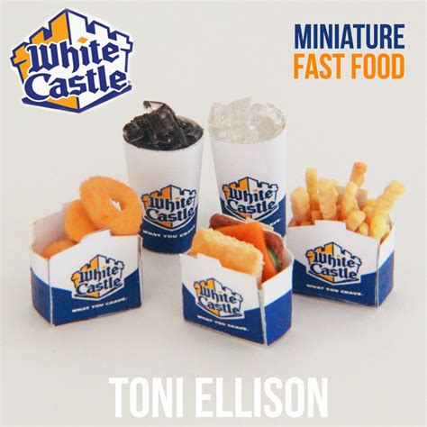 cuisine miniature toni ellison white castle miniature fast food tutorial