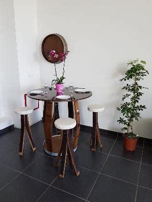 Table Repas En Tonneau  Barrique Création