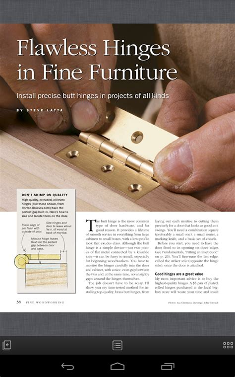 fine woodworking magazine android apps  google play