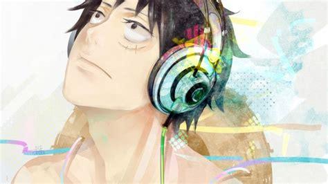 Anime Headphone Luffy One Piece Wallpaper High Definition