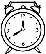Clock Coloring Alarm Sheet sketch template