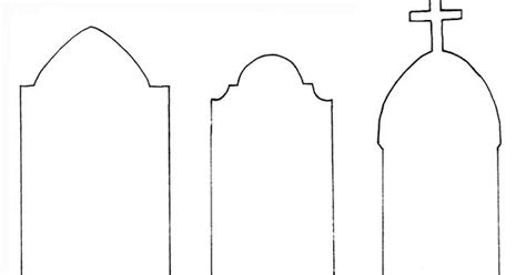 headstone template tombstone outline images search