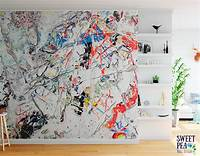 excellent abstract wall mural Artist loft splatter paint wall mural / abstract removable   Etsy