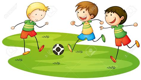 playing cartoon outside clipart play sport pencil and in color outside